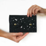 White galaxy leather wallet